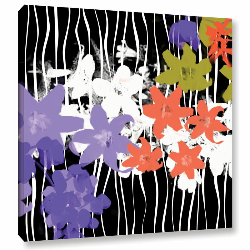 Latitude Run Blossoming Garden I Painting Print On Wrapped Canvas Wayfair