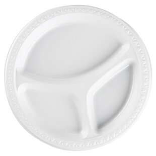 Plastic Divided Plates White  sc 1 st  Wayfair : gourmet home products plastic plates - pezcame.com