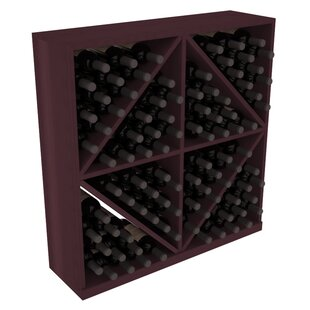Karnes Redwood Diamond Storage 96 Bottle Floor Wine Rack