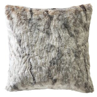 Diaundra Brindle Indoor/Outdoor Faux Fur Pillow Cover