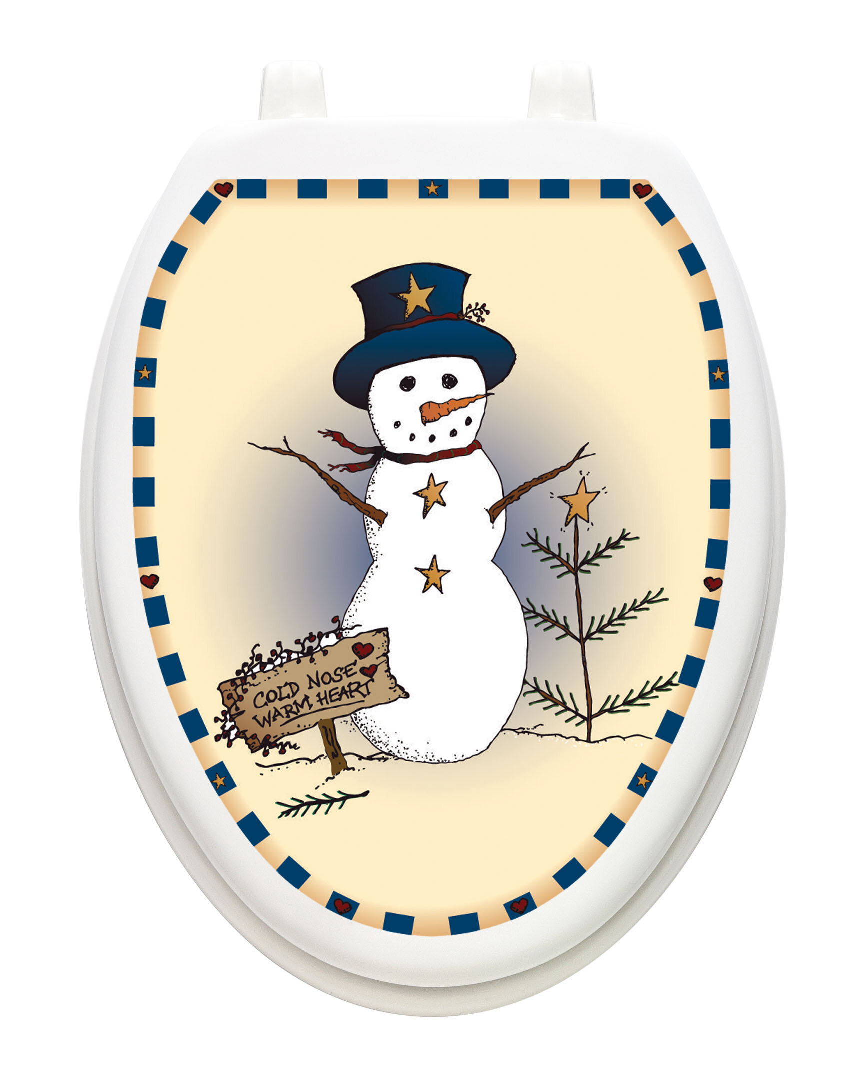 Strange Holiday Snowman Toilet Seat Decal Pabps2019 Chair Design Images Pabps2019Com