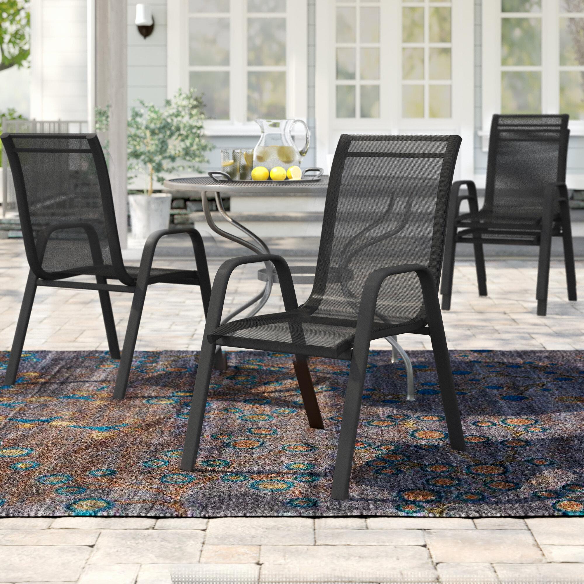Charlton Home Kurz Stacking Patio Dining Chair Reviews Wayfair