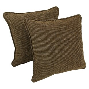 Jaquard Chenille Throw Pillow (Set of 2)