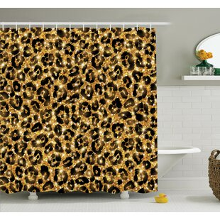 Best Choices Animal Leopard Pattern Shower Curtain Set By Ambesonne