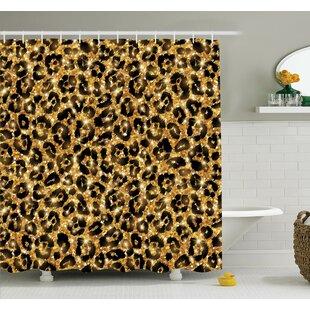 Best Animal Leopard Pattern Shower Curtain Set ByAmbesonne