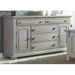 Beachcrest Home Hinsdale 5 Drawer Combo Dresser Image