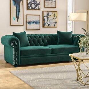 Emerald Green Velvet Sofa | Wayfair