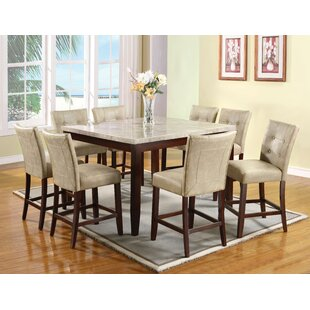 Lovely 9 Piece Pub Table Set