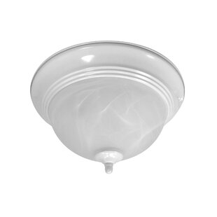 NICOR Lighting 2-Light Flush Mount