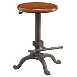 Kylie Adjustable Height Swivel Bar Stool by Williston Forge
