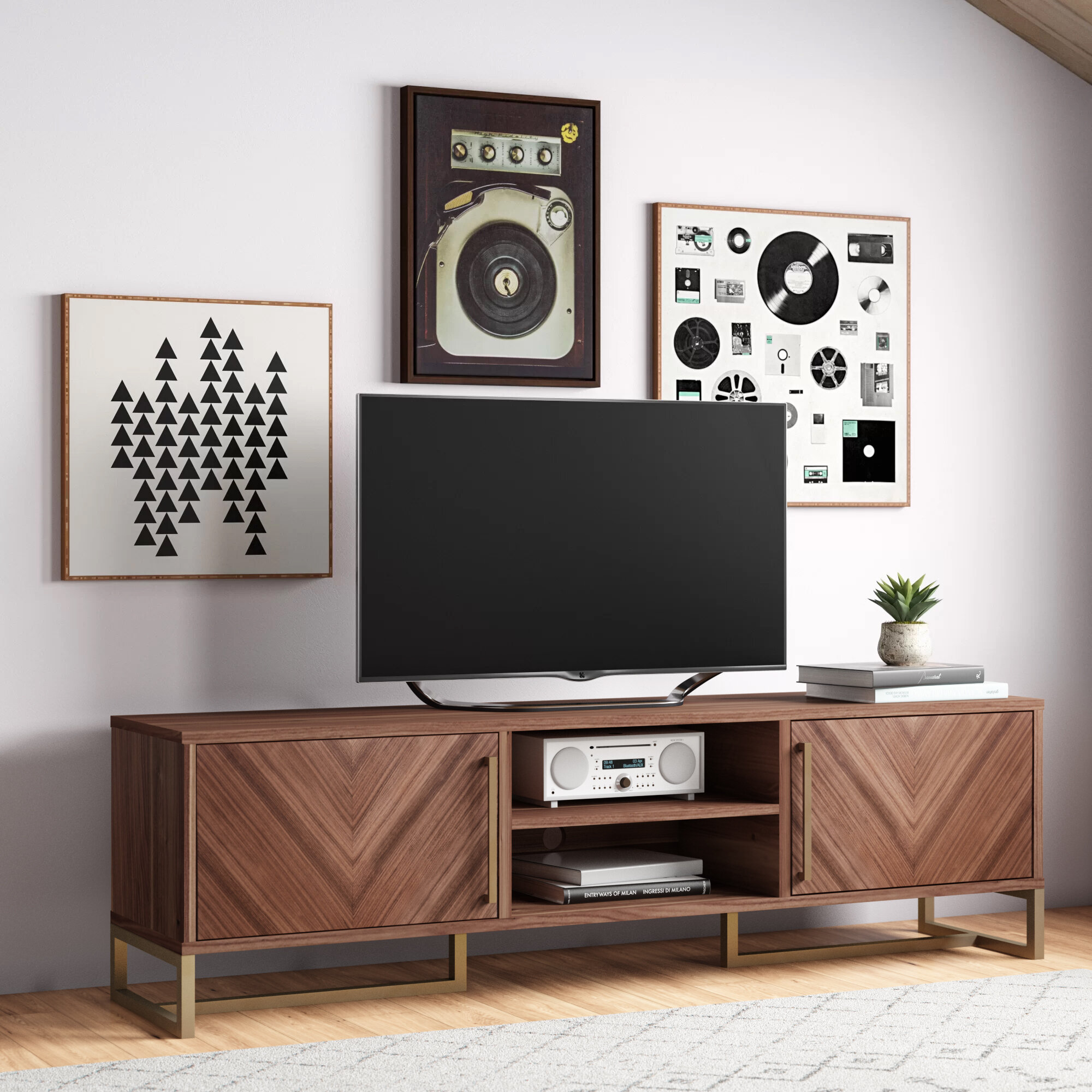 Allmodern Tv Stand For Tvs Up To 85 Reviews Wayfair