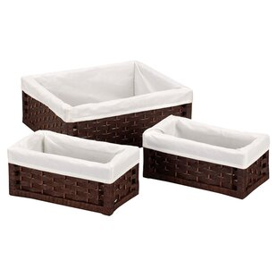 Paper Rope Large Utility Basket (Set of 3) by Household Essentials