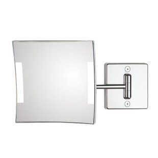 Quadrolo 1-Arm Cable and Plug LED Magnifying Mirror ByWS Bath Collections