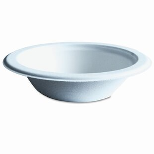 Compostable Sugarcane Dinnerware, 12 Oz. Bowl, 1000/Carton