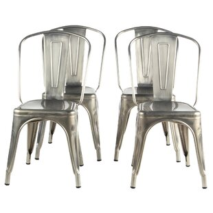 Brayden Studio Riker Metal Dining Chair (Set of 4)