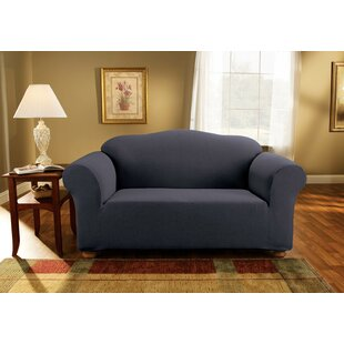 Simple Stretch Subway Box Cushion Loveseat Slipcover
