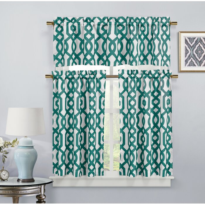 Islip 3 Piece Kitchen Curtain Set