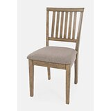 Blairmore Upholstered Slat Back Side Chair in Taupe (Set of 2) by Gracie Oaks