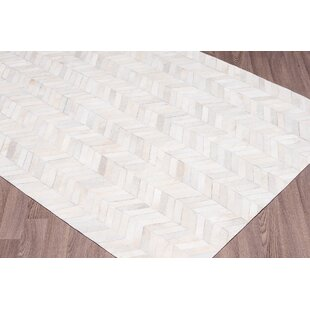 Buy Chappel Chevron Hand Woven Cowhide White Area Rug By 17 Stories