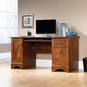 Isadore Computer Desk with 2 Storage Drawers