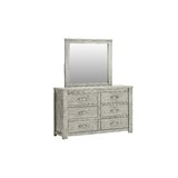 Moorton 6 Drawer Double Dresser with Mirror by Gracie Oaks