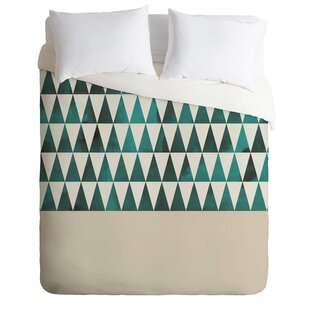 East Urban Home Teal Triangles Duvet Cover Set