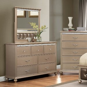 Almerton 7 Drawer Dresser with Mirror by Willa Arlo Interiors
