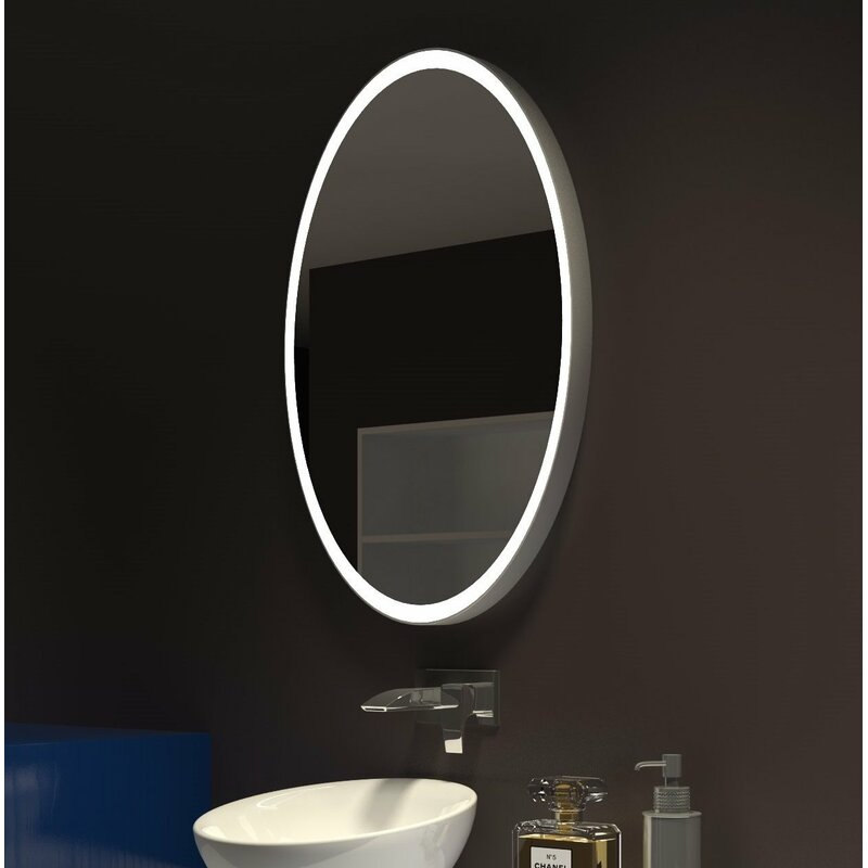 Paris Mirror Galaxy Illuminated Oval Bathroom Mirror Wayfair