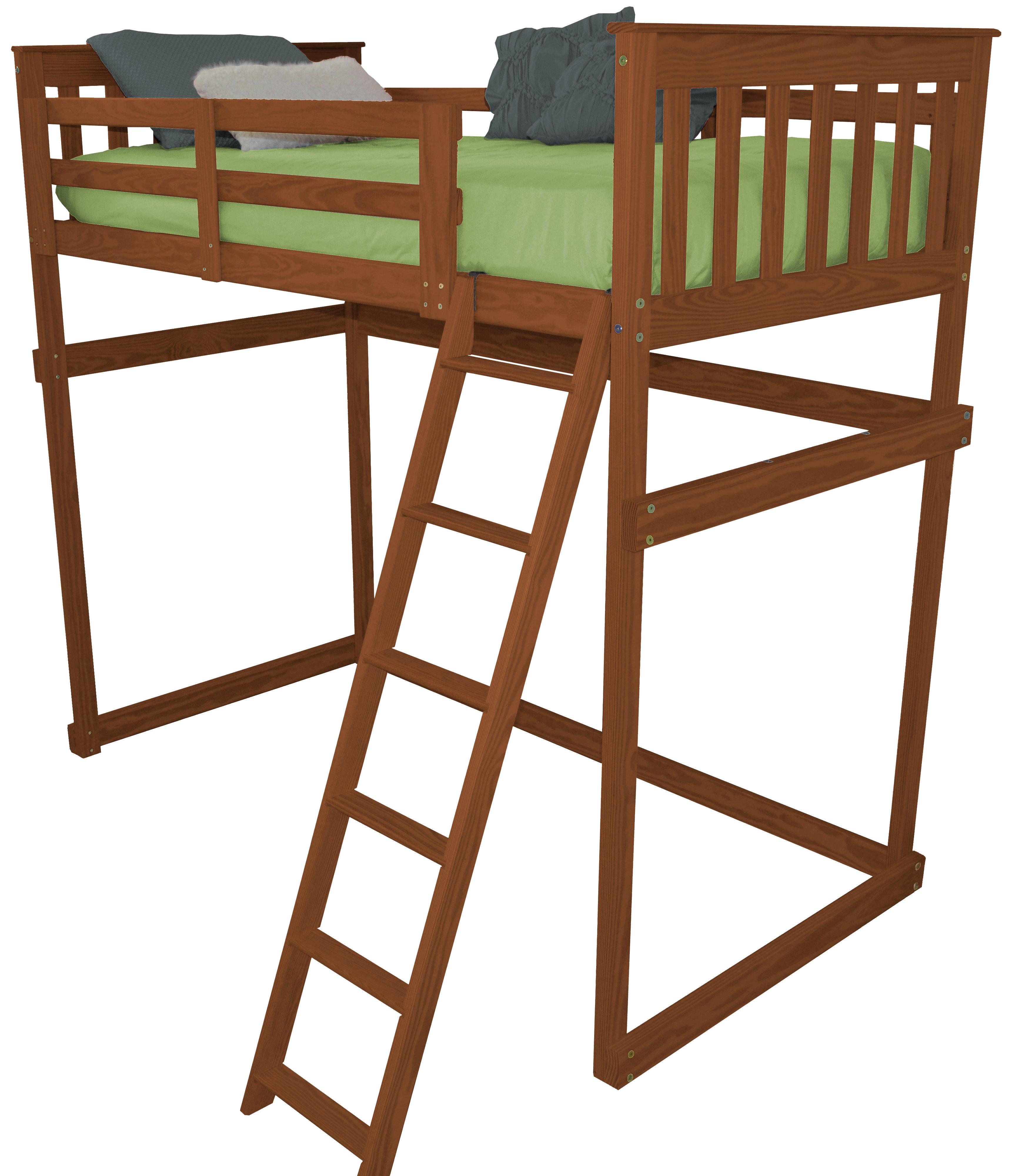 Zoomie Kids Swainsboro Loft Bed With Side Ladder Reviews Wayfair