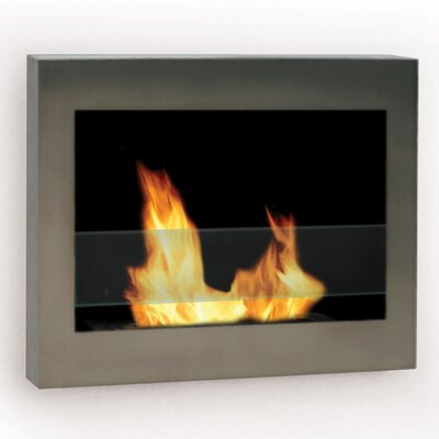 Soho Wall Mounted Bio-Ethanol Fireplace Anywhere Fireplace Finish: Stainless Steel