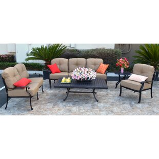 Darby Home Co Nola 5 Piece Sunbrella Sofa Set with Cushions