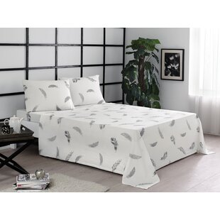 Feathers Jersey Sheet Set