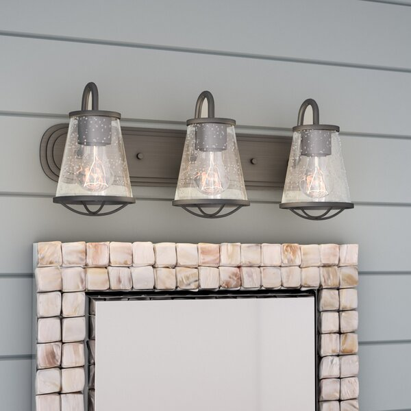 Unique Bathroom Lighting Sale: Beachcrest Home Regan 3-Light Vanity Light & Reviews