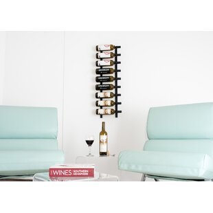 9 Bottle Wall Mounted Wine Rack by Vintag..