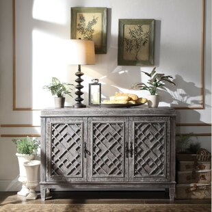 Silas Distressed Wooden Credenza Ophelia & Co.