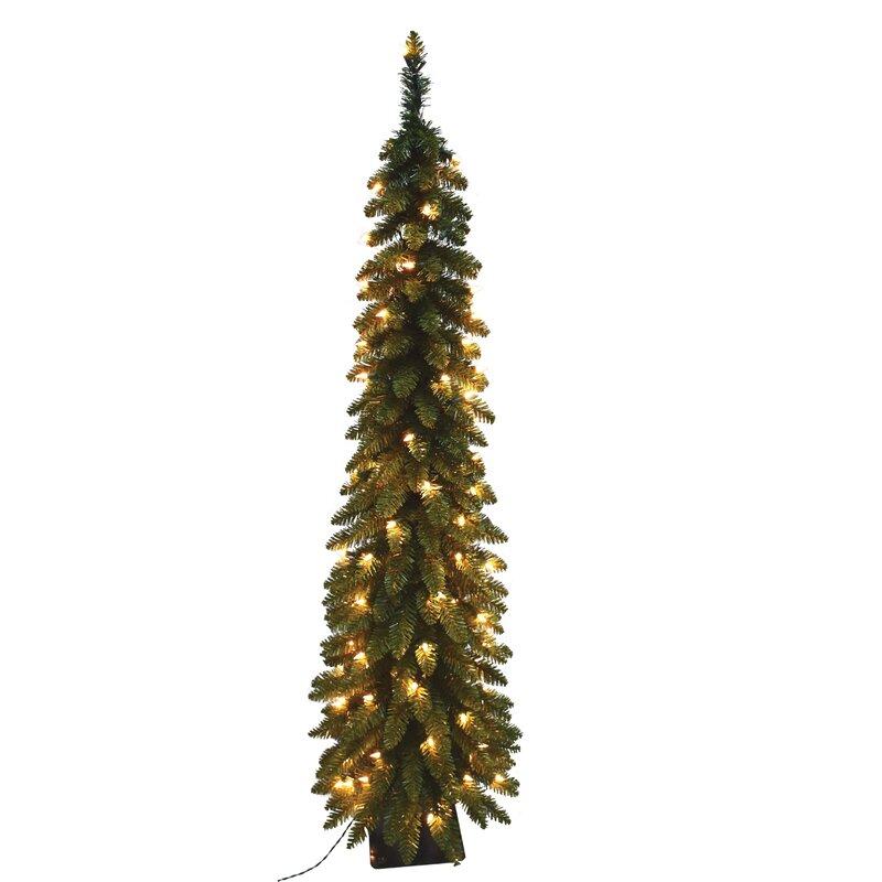 Next Slim Christmas Tree: The Holiday Aisle Pencil Slim 7' Green Fir Artificial