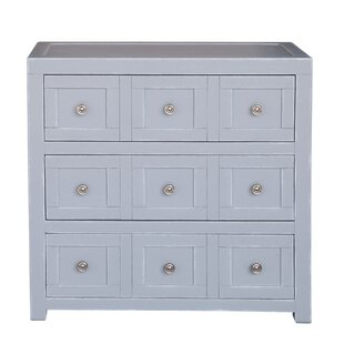 Milton Apothecary Style 3 Drawer Accent Chest by Rosecliff Heights