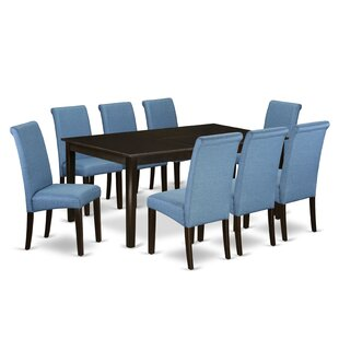 Nataly Room Table 9 Piece Extendable Solid Wood Dining Set