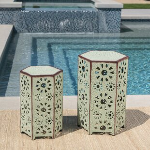 Compare & Buy Bales Outdoor Iron 2 Piece End Table Set By Ebern Designs