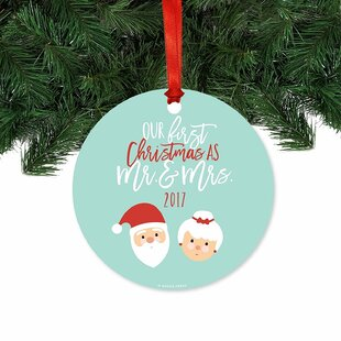 9a08d8c930fb3 Our First Christmas Santa and Mrs. Claus Ball Ornament