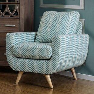 Brayden Studio Huguenot Midcentury Modern Armchair
