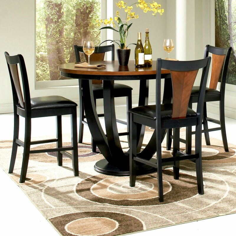 Perfect Mayer 5 Piece Counter Height Dining Set