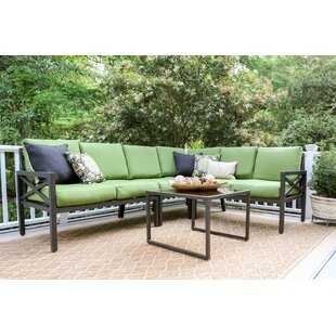 Hallie 5 Piece Sectional Set with Cushions by Alcott Hill