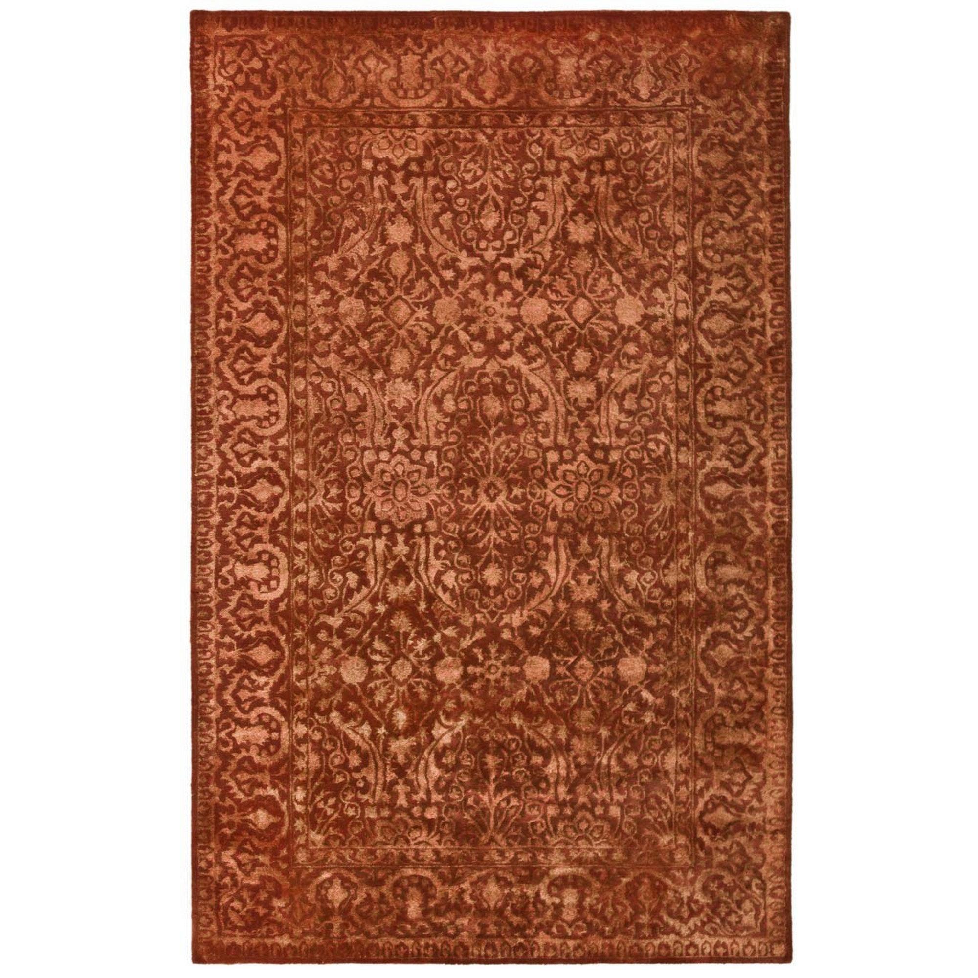 Safavieh Silk Road Hand Tufted Wool Rust Area Rug Reviews Wayfair
