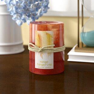 Tangerine Mango Scented Pillar Candle