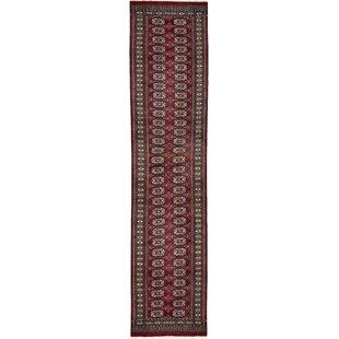One-of-a-Kind Mori Handwoven 2'6 x 11'7 Wool Red Area Rug ByBokara Rug Co., Inc.