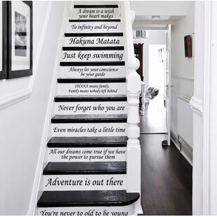 13 Steps Stairway Decal
