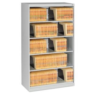 Open Fixed 5-Shelf Vertical Filing Cabinet