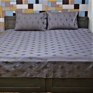Hunsicker Genuine Geometric 350 Thread Count 100% Cotton Sheet Set