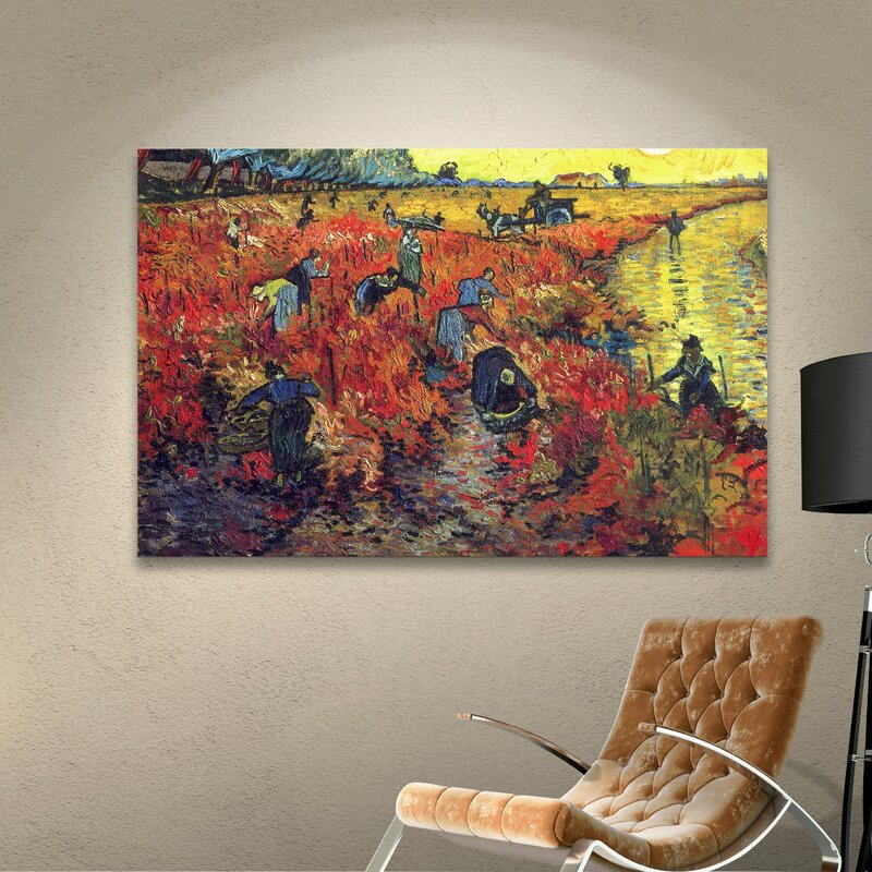 Vincent Van Gogh Red light District Oil Paint Print On Framed Canvas Wall Art